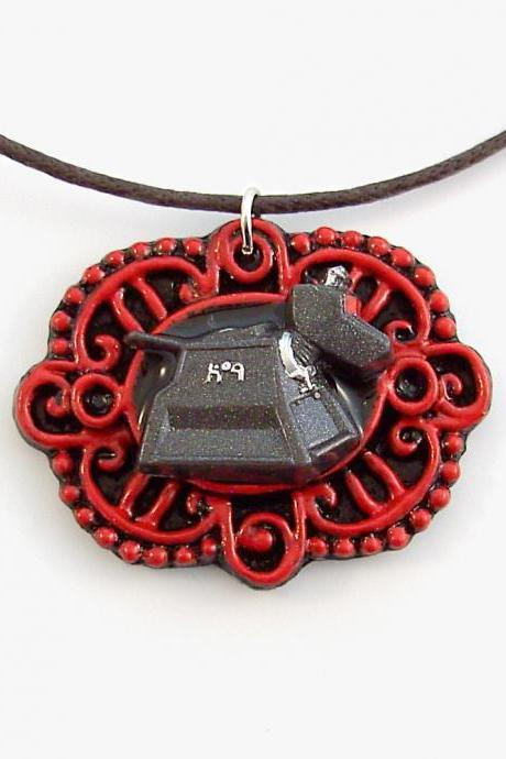 K-9 Doctor Who Companion Victorian Cameo Pendant and Necklace